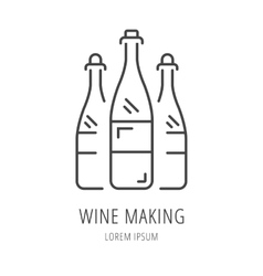 Simple logo template wine making vector