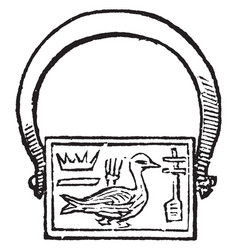 Amulet vintage engraving vector