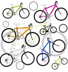 Bicycle background vector