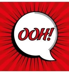 cartoon comic bubble speech ooh design vector image