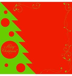 christmas tree shape vector image vector image