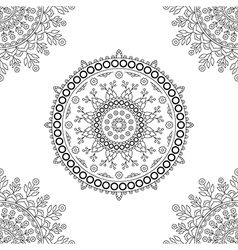 Circle mandala floral pattern vector