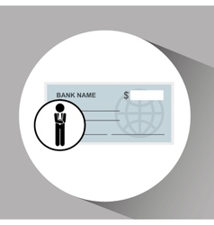 Concept stock exchange market bank check icon vector