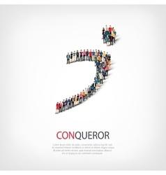 conqueror people symbol vector image vector image