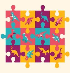 Dino puzzle 1 38 vector