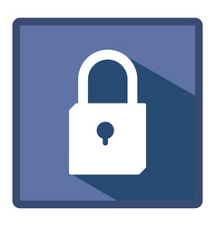 emblem lock icon stock vector image