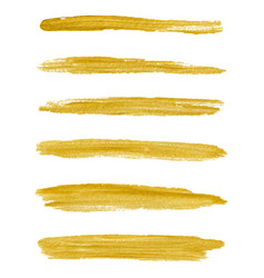 gold paint textured abstract brushes vector image