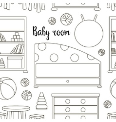 Interior of baby room pattern vector image vector image