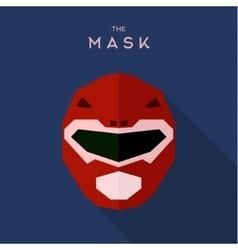 Mask helmet spacesuit robot alien red anti-hero vector