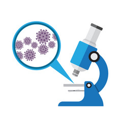 microscope laboratory equipment research with vector image vector image