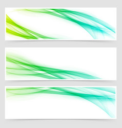 Modern swoosh futuristic line card collection vector
