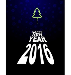 New year and Christmas tree Light Christmas tree vector image vector image