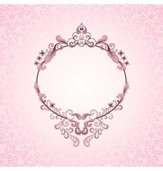 pink oval frame vector image