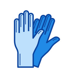 protective gloves line icon vector image