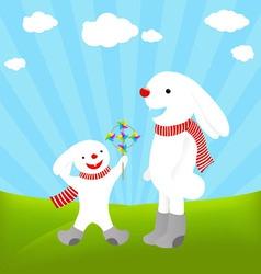 rabbit cartoons vector image vector image