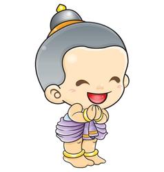 Sawasdee Thailand greeting welcome sign vector image vector image