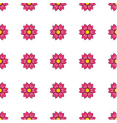 seamless pattern with cartoon red flowers vector image vector image