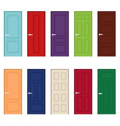 Set of color door icons vector