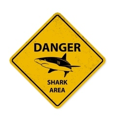 Shark sighting sign vector image