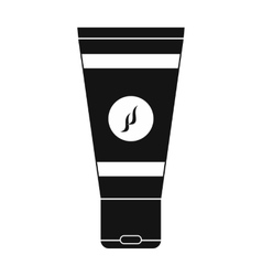 Shaving foam black simple icon vector