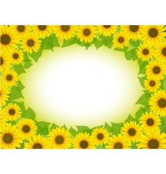sunflower frame vector image vector image