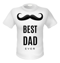 T shirt best dad vector image
