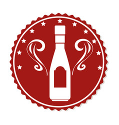 wine bottle isolated icon vector image vector image