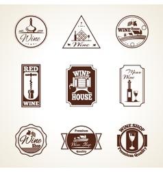 Wine label set vector