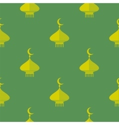 Yellow Dome Icon Seamless Pattern vector image