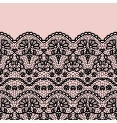 Lace border invitation card vector