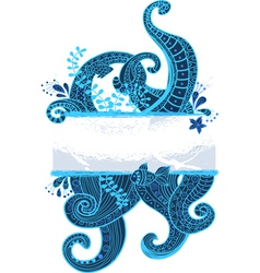 Sea ornament vector