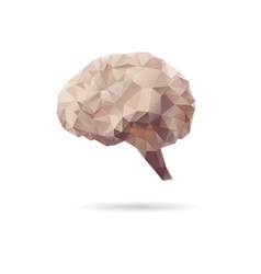 Brain abstract isolated on a white backgrounds vector image
