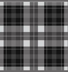 seamless gray black tartan - white stripes vector image