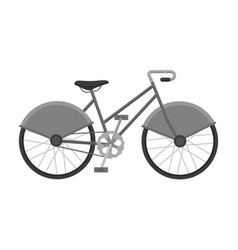 walking bicycle with large shields and curves vector image