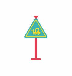 Forklift in operation road sign vector