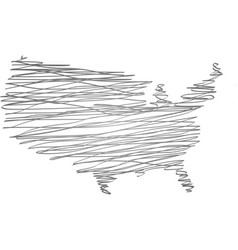 Map usa vector