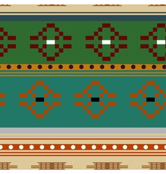 Seamless texture with rhombic tribal elements vector image