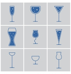 Drink glasses vector
