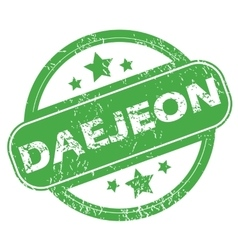 Daejeon green stamp vector
