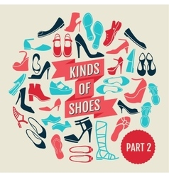 Kinds of shoes part 2 vector