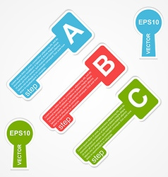 Paper key design element infographic vector