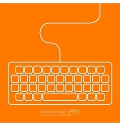 Stock linear icon keyboard vector