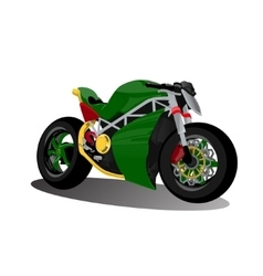 Super sport extreme green bike motorcycle vector
