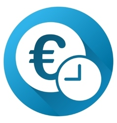 Euro credit gradient round icon vector