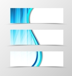 Set of banner spectrum design vector image