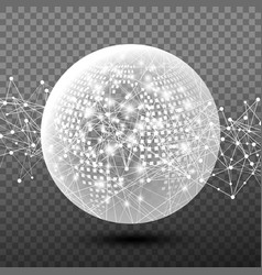 abstract digital global network design vector image