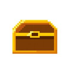Baul treasure video game pixelated vector