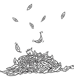 black and white leaves vector image vector image