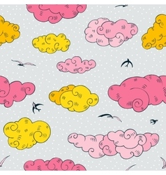 Blue Clouds seamless pattern vector image