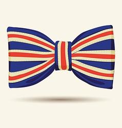 Britain flag bow-tie vector
